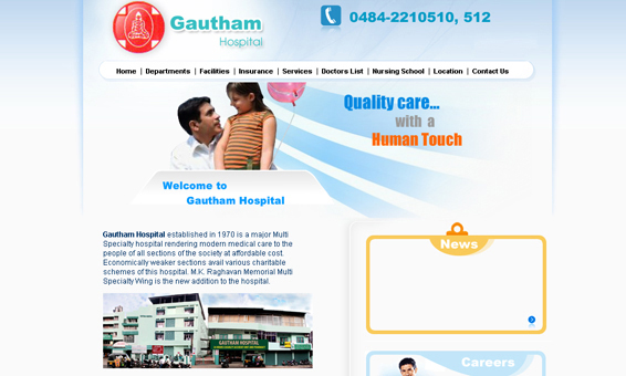 Hospital Website Designs Kerala